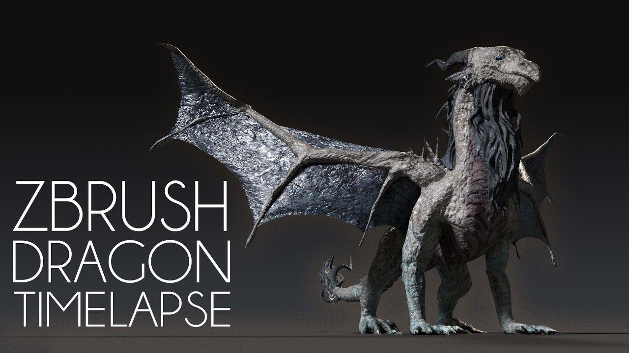 Zbrush Dragon Timelapse Digital Speed Sculpt YouTube