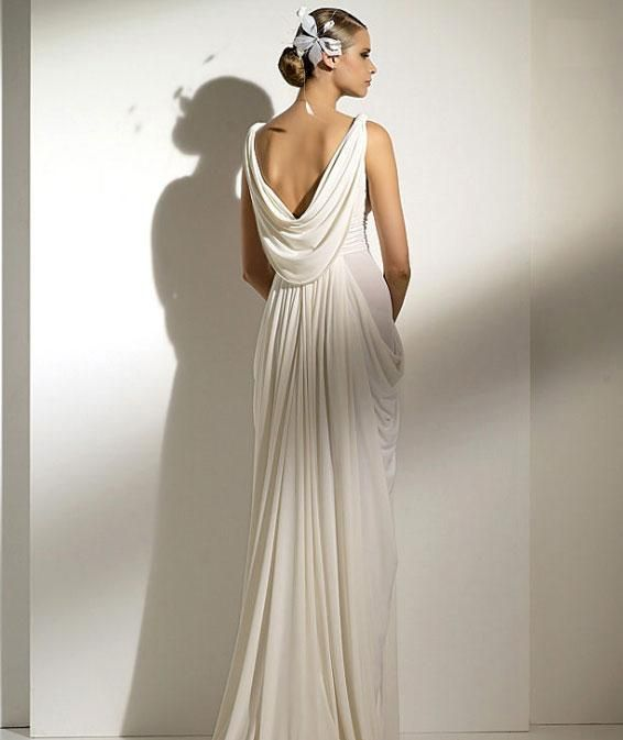 modern day greek style wedding dress