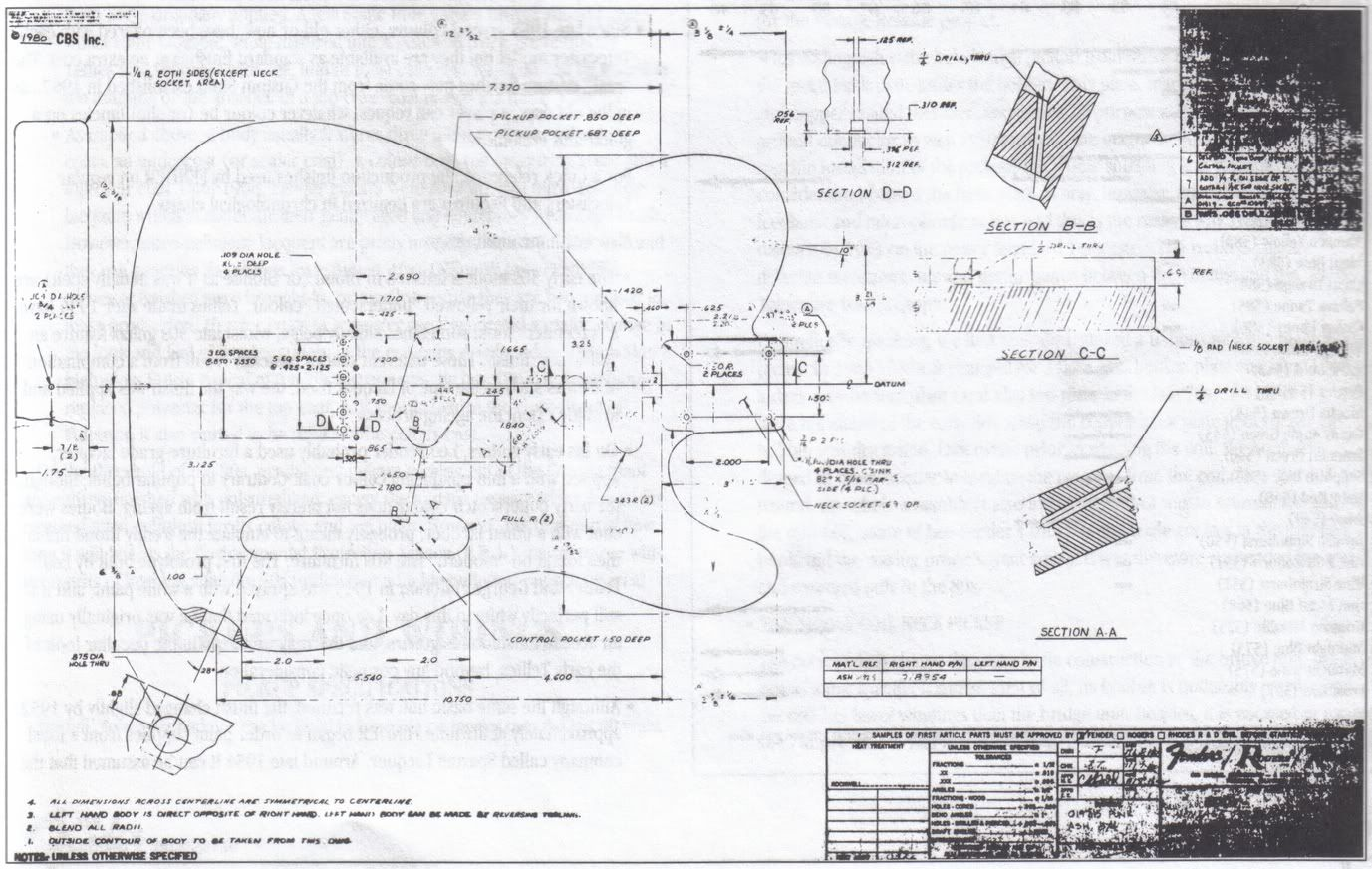 full size plan to build a telecaster by johnanthonyguitars