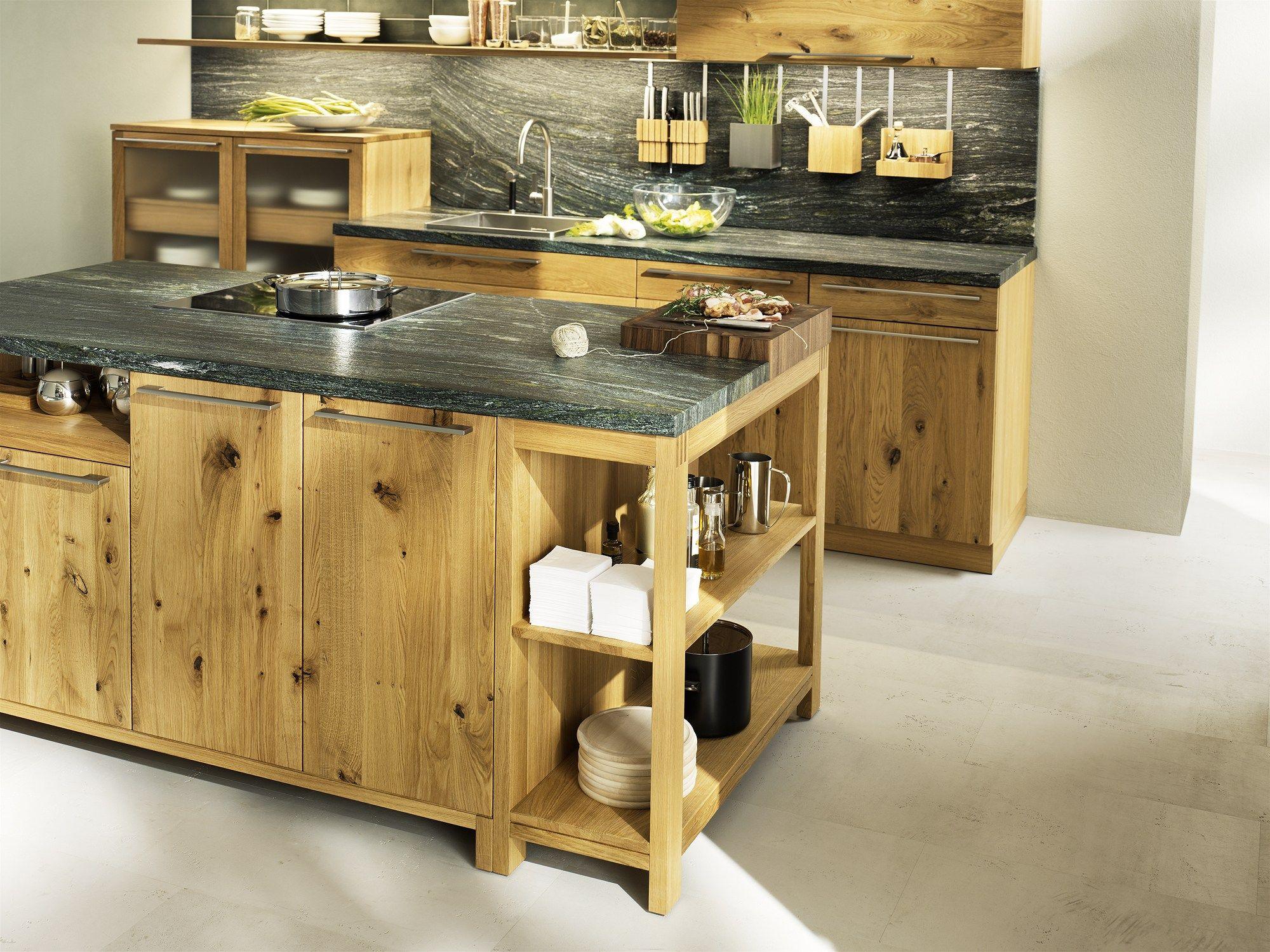 Küche aus Holz mit Kücheninsel LOFT - TEAM 7 Natürlich Wohnen ...