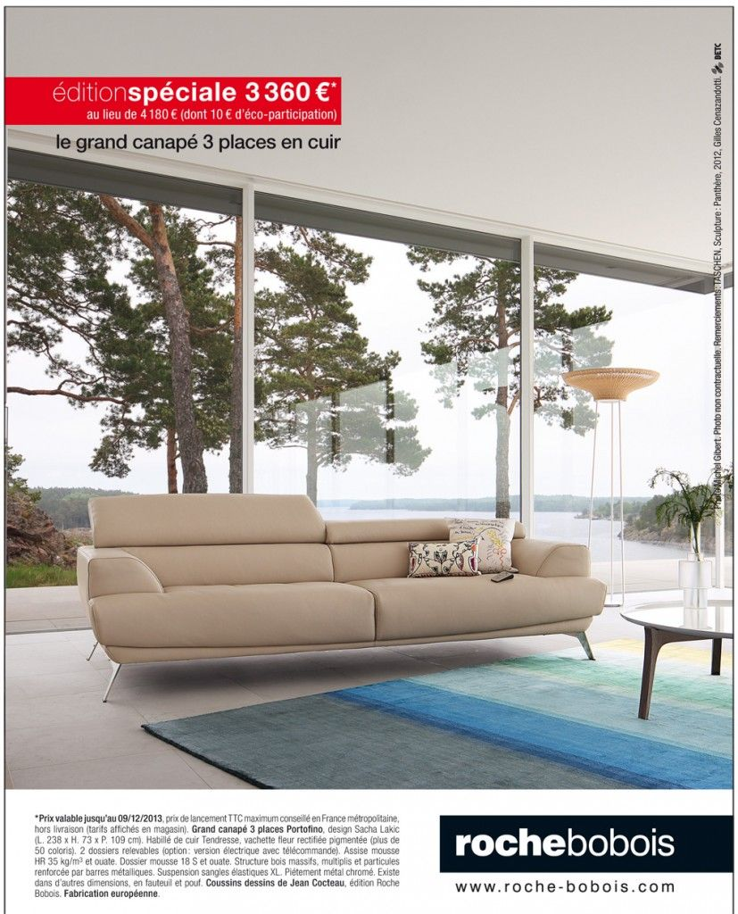 grand canap portofino chez roche bobois village du. Black Bedroom Furniture Sets. Home Design Ideas