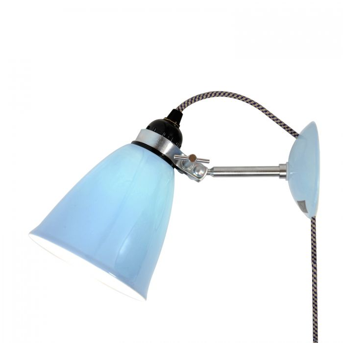 Hector medium dome wall light plug switch cable light blue ffe hector medium dome wall light plug switch cable light blue aloadofball Gallery