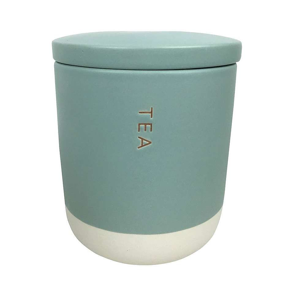 Honesty Embossed Two Tone Tea Canister | Dunelm | Kitchen ...