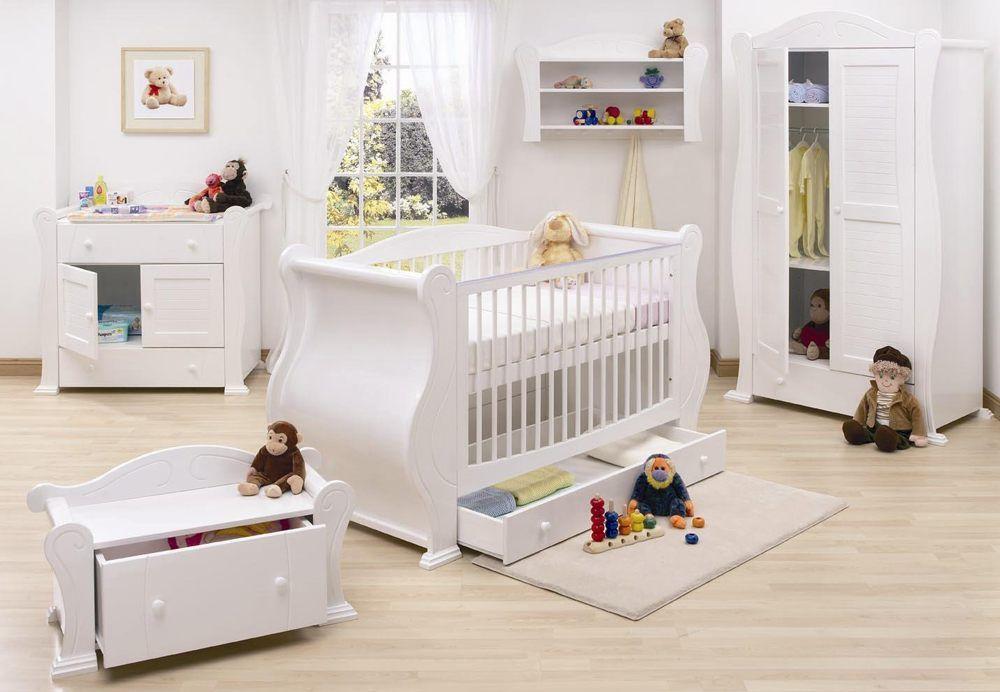 Modern White Crib Set Baby Bedroom Furniture Baby Bedroom Furniture Sets Baby Furniture Sets