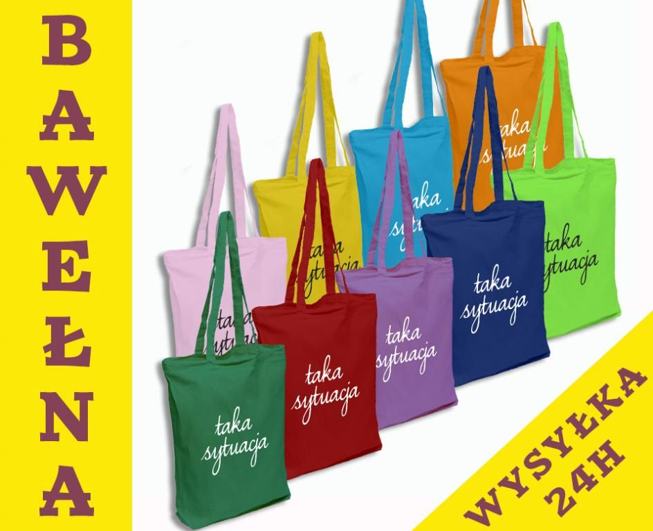 Modna Fioletowa Eko Torba Nadruk Taka Sytuacja 5222866833 Oficjalne Archiwum Allegro Reusable Tote Bags Tote Bag Tote