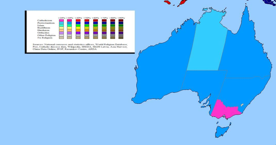 Religion in Australia | MAPS | Australia map, Australia