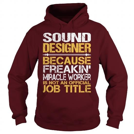 Awesome Tee For Sound Designer T Shirts, Hoodies. Check price ==► https://www.sunfrog.com/LifeStyle/Awesome-Tee-For-Sound-Designer-97625347-Maroon-Hoodie.html?41382