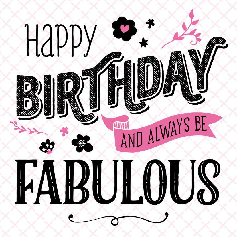 Verjaardagskaart Fabulous Verjaardagskaarten