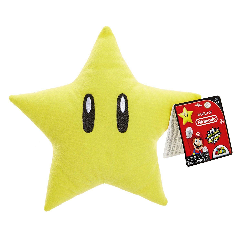 Nintendo Star 13 cm Plüsch mit Sound   Kinderzimmer Super Mario ...