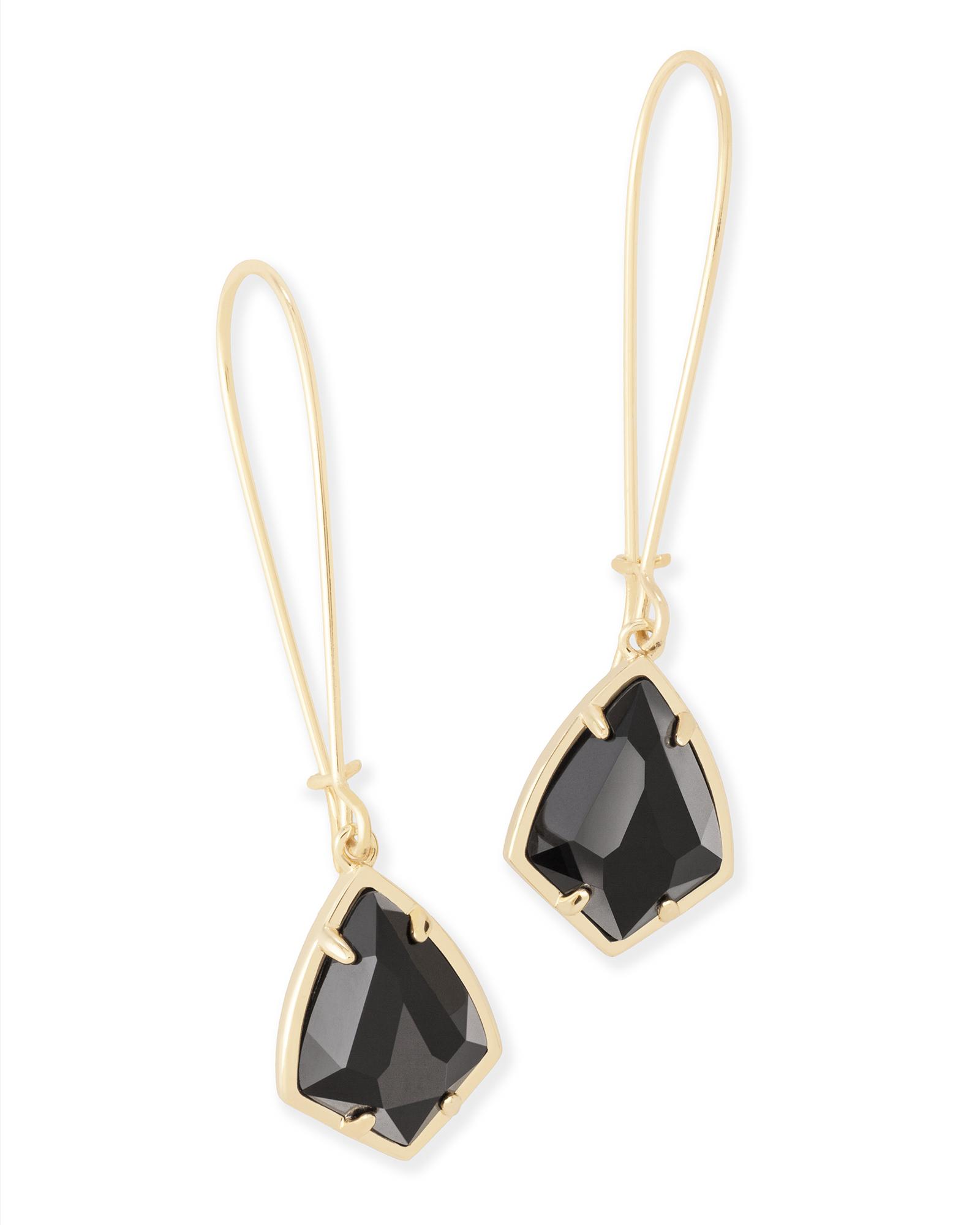 Carinne gold drop earrings in black wish list pinterest