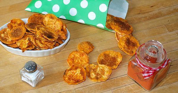 Chips de boniato exprés