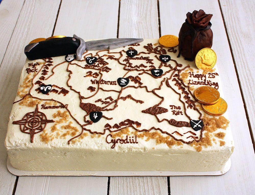 Elder Scrolls Cake CAKE Pinterest Cake Birthday cakes