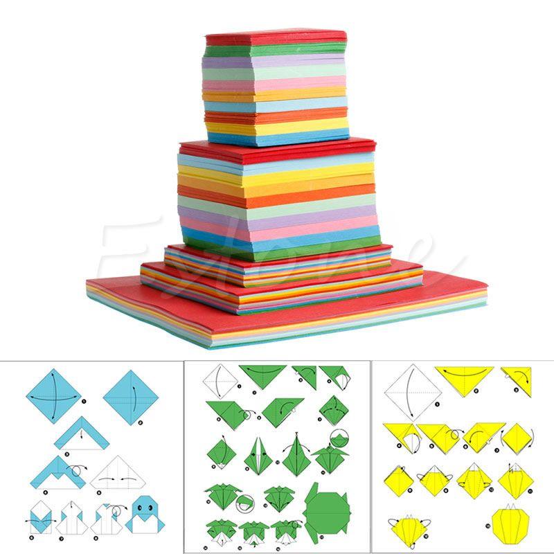 Origami Blaetter , 1 Pack Platz Folding Wünschen Papier Bunte Doppelseitige Blätter