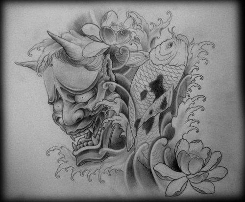 Puede Mejorar La Expresion Del Hannya Lo Demas Bien Super Tato Jepang Samurai Tattoo Japan Tattoo
