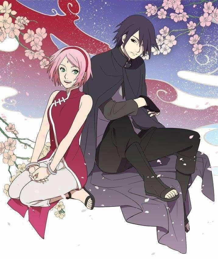 Hasil gambar untuk wallpaper couple sasuke sakura