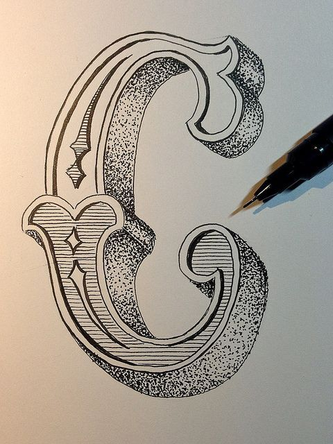 Letters Doubles Alphabet Calligraphy Sorting Multiple Typography Illuminated