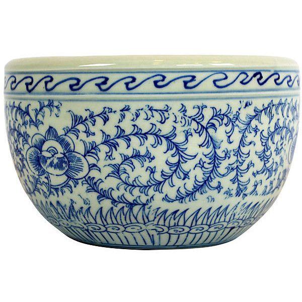 "White Decorative Bowl Amazing 8"" Handcrafted Vine Bowl Bluewhite Decorative Bowls Inspiration Design"
