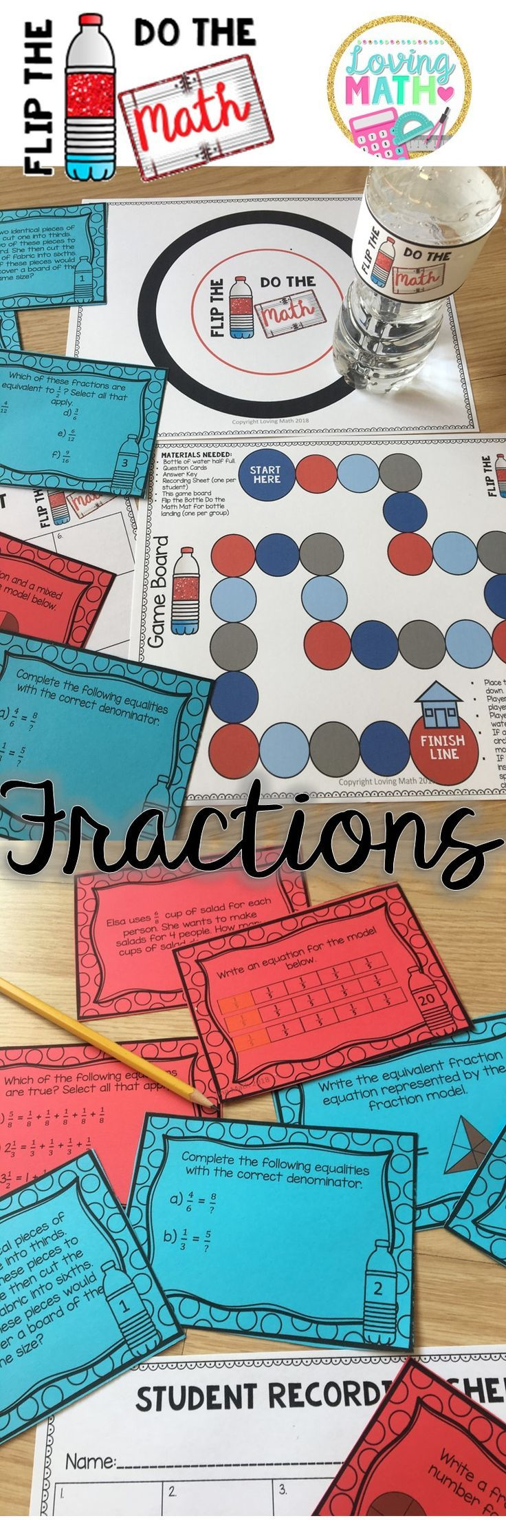 Fractions Game | Equivalent Fractions, Ordering, Word Problems ...
