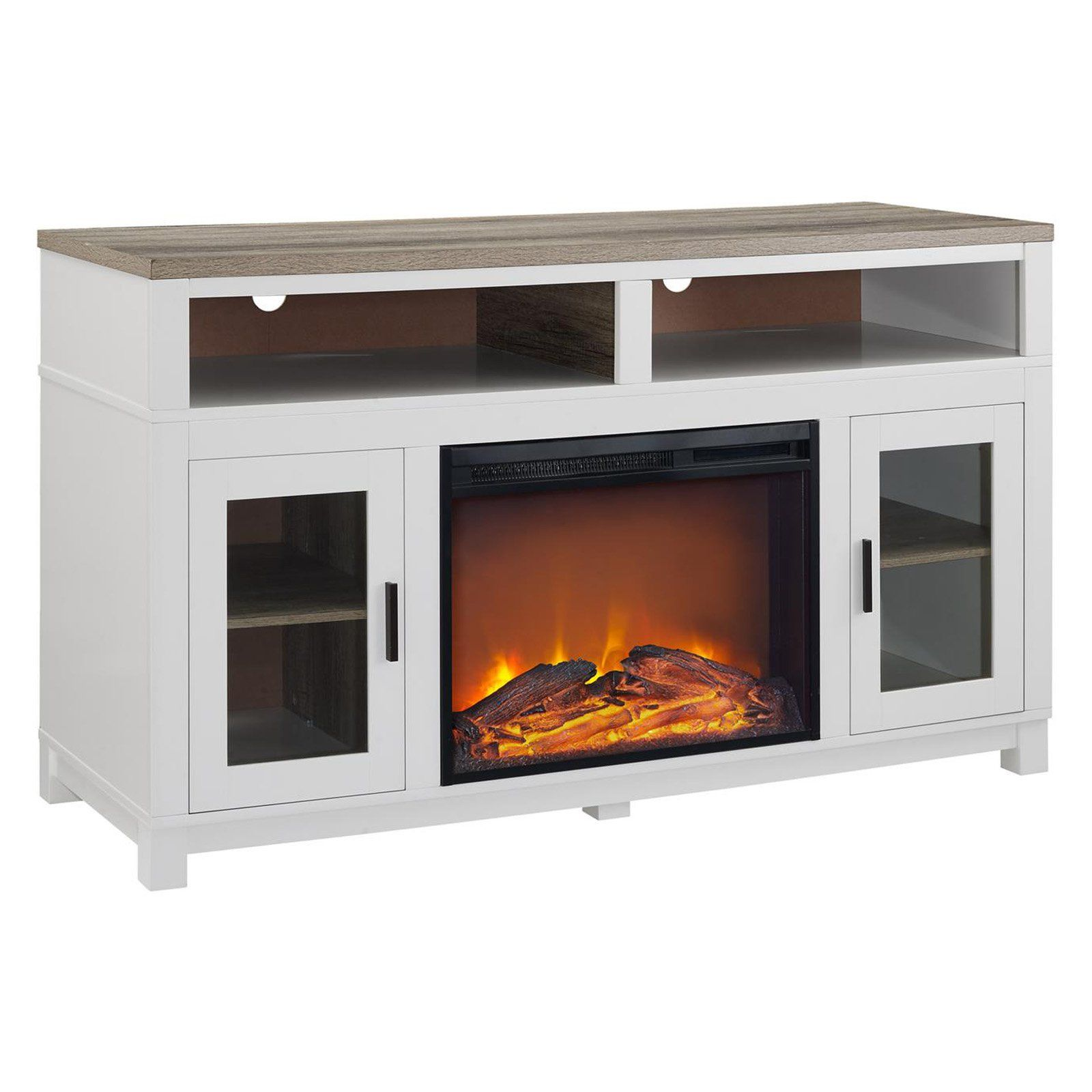 Ameriwood Home Carver Electric Fireplace Tv Stand White Fireplace Tv Stand Electric Fireplace Tv Stand White