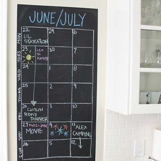 How to make your own chalkboard wall to use for a calendar, meal