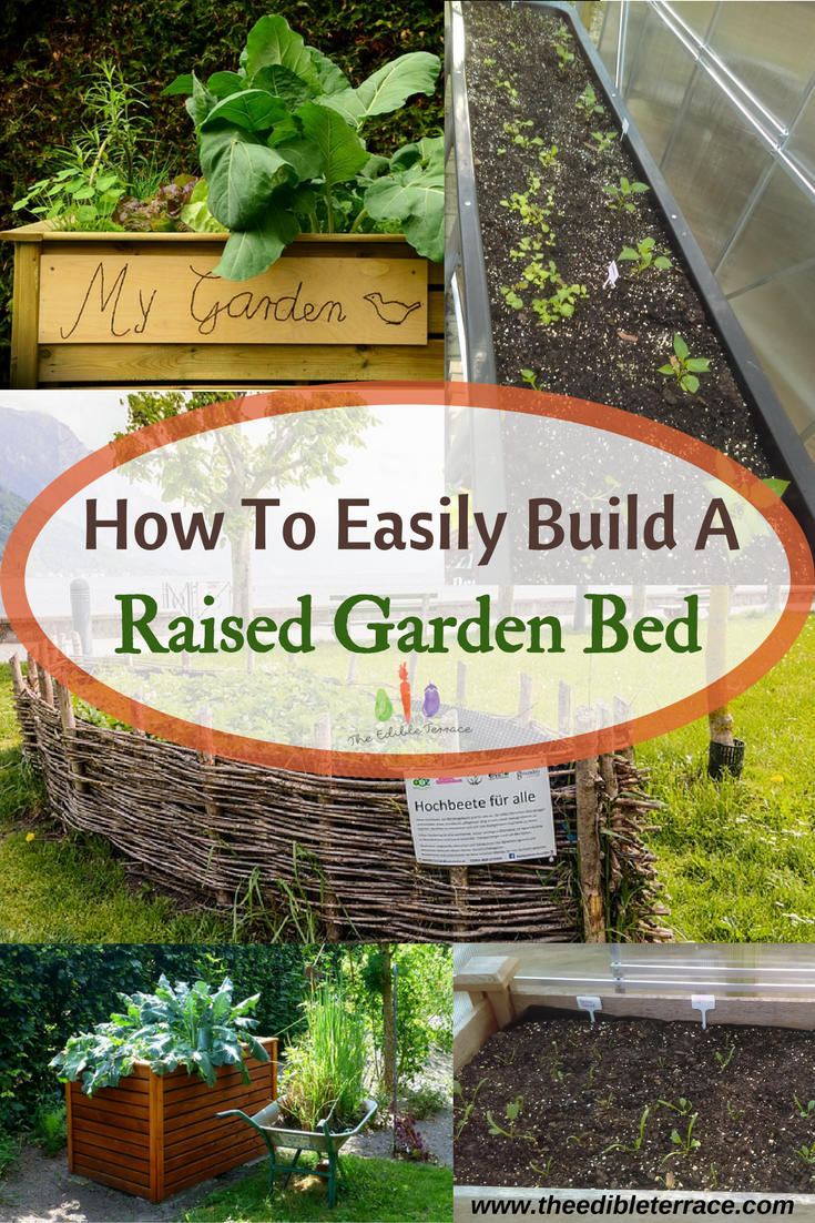 With a raised bed or garden you get to garden with less back pain AND fewer weeds. A raised garden makes the most use of your space and has many advantages. via @edibleterrace