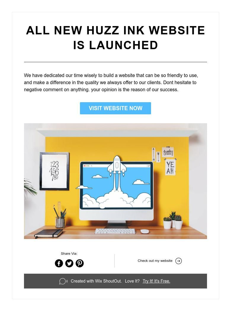 All new huzz ink website is launched i site check it