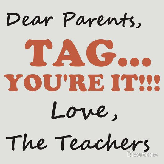 Download DEAR PARENTS, TAG...YOU'RE IT | Fitted V-Neck T-Shirt ...