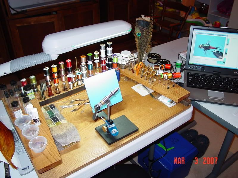 Fly Tying Bench Ideas Part - 34: Fly Tying, Fishing Stuff, Bench, Bait, Fly Tying Patterns, Couch, Crib Bench