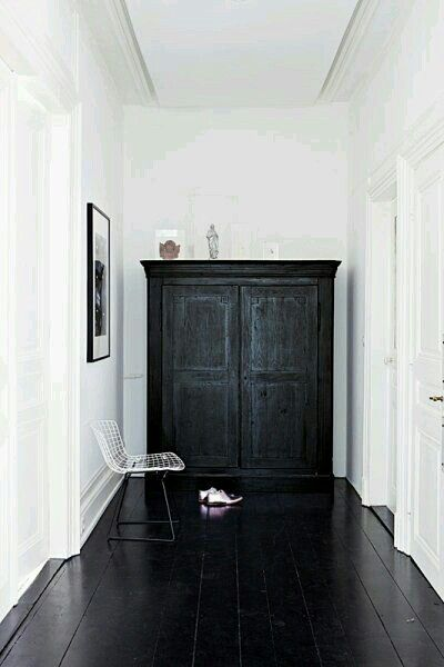Pinterest F O R T F I E L D Black Painted Wood Floors And