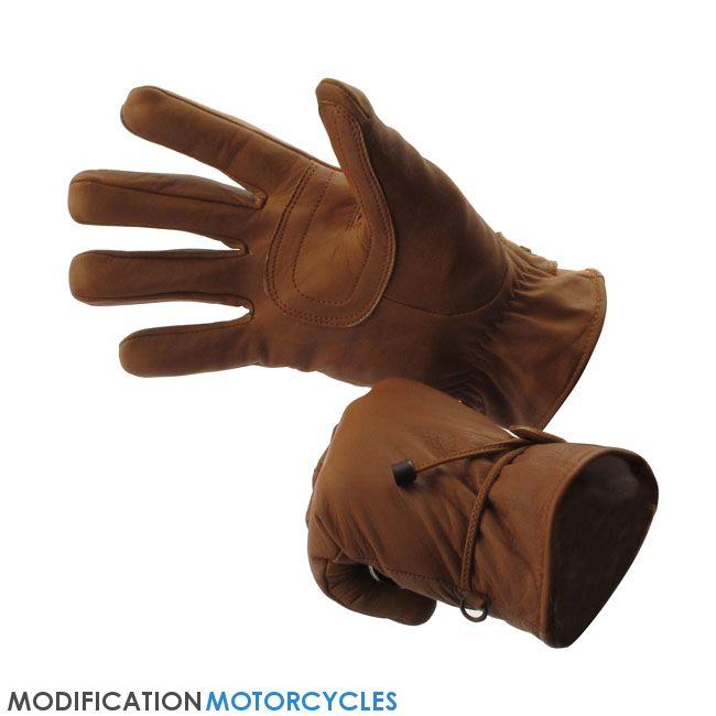 Gants Longhorn Gloves Indiana Brown, Equipement du motard, Gants Vintage