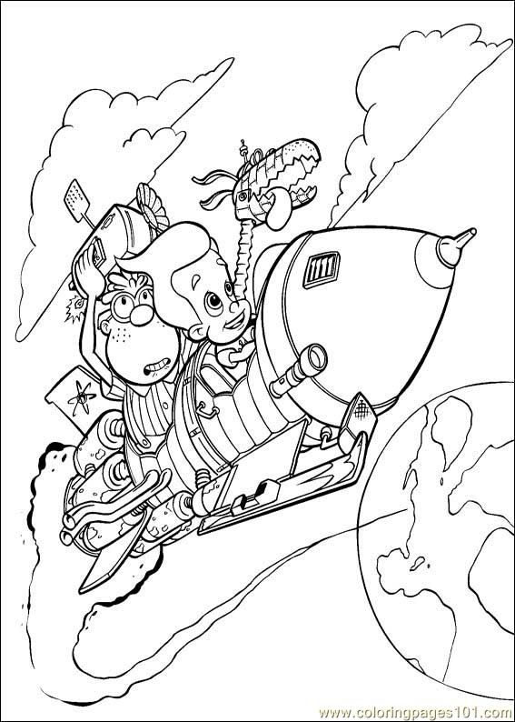 jimmy neutron boy genius coloring pages for kids coloring kids