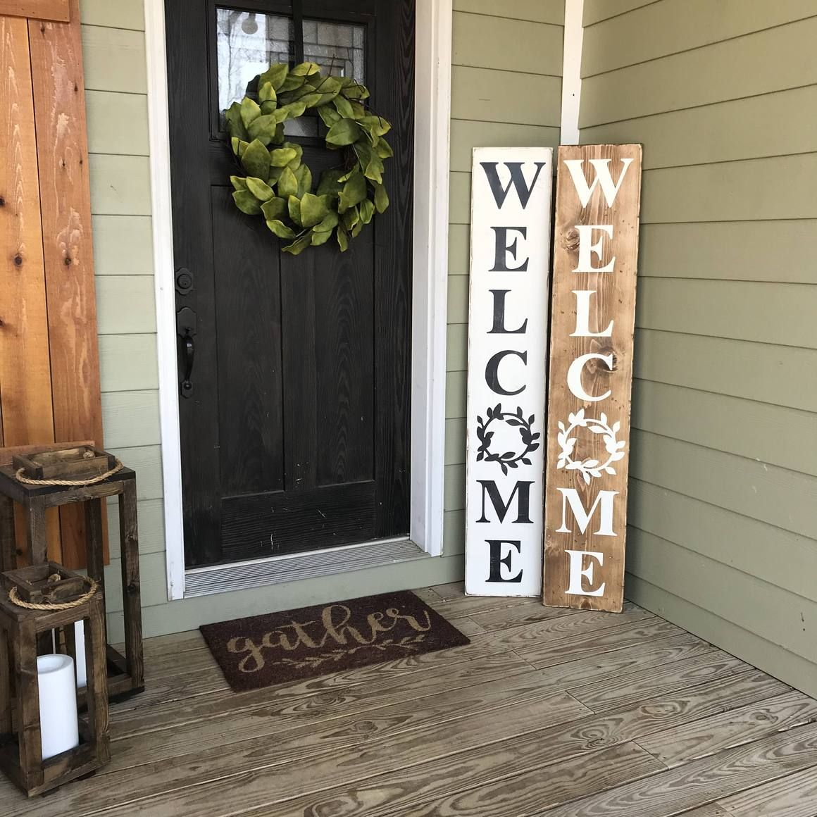 Welcome Sign Wood Sign Front Porch Decorating Porch Welcome Sign Porch Decorating