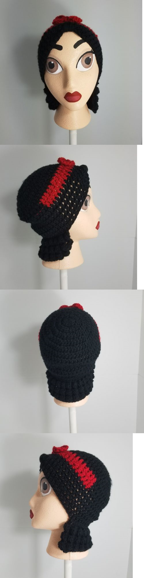 Hats 15630: Handmade Crochet Disney Snow White Inspired Wig Beanie With Handpainted Head -> BUY IT NOW ONLY: $35 on eBay!