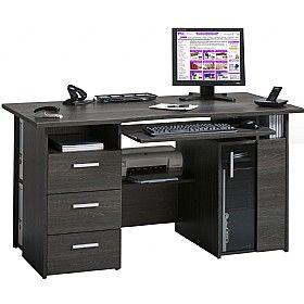 Brisbane Computer Desk Anthracite 233 Computer Desks Computer Desk Home Office Computer Desk Desk