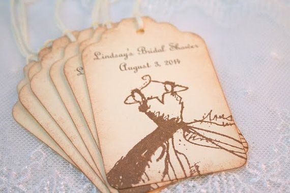 Bridal Tags Favor Wedding Shower Tags  by OnTheWingsPaperie, $12.00