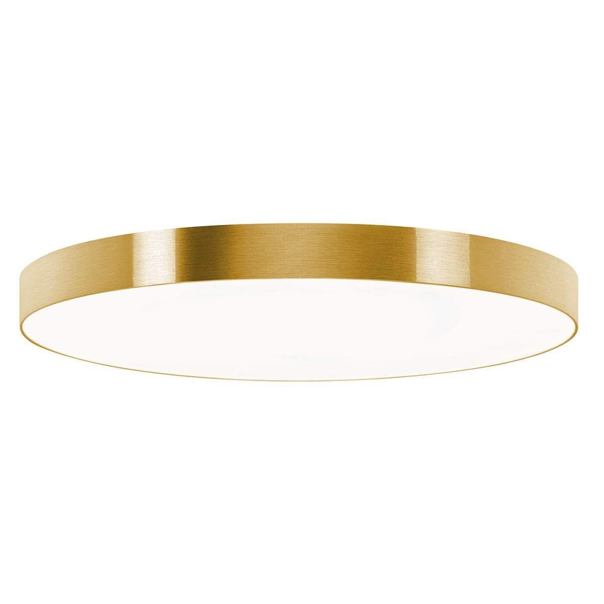 Schöne LED Deckenlampe dimmbar mit STOFF Schirm in schwarz /& gold  Dielenleuchte