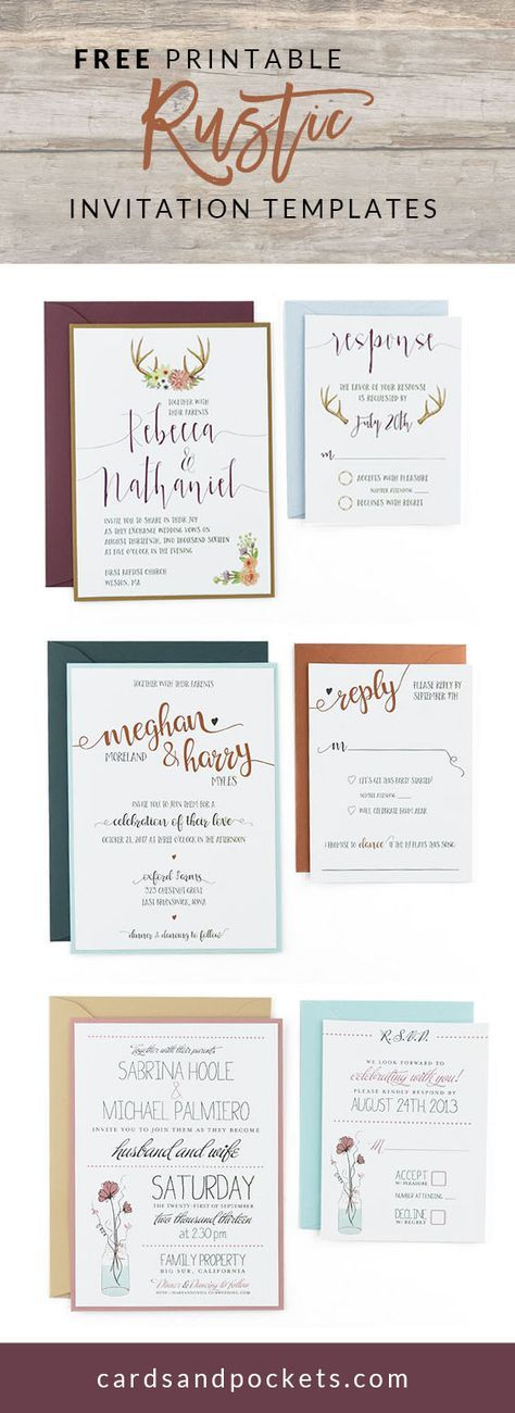 time wedding invitatiowording%0A Beautiful rustic wedding invitations  Editable instant download templates  you can print as many as you need   wedding  invitations  vinewedding    Pinterest