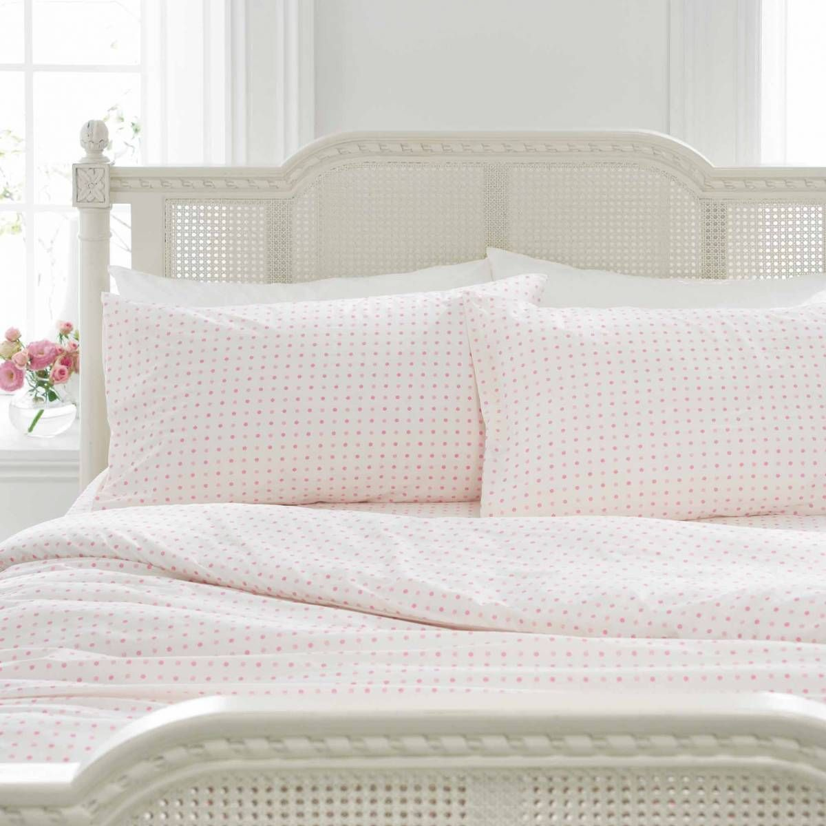 Pink Polka Dot Bedding | Polka Dot Duvet Set | Polka Dot Fitted Sheets