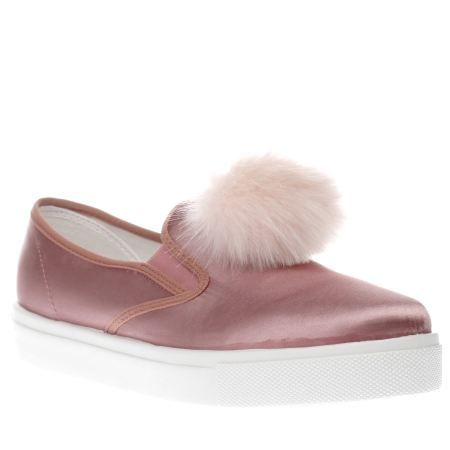 2dee10bbc8 womens schuh pink awesome pom pom flats
