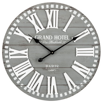 Grand Hotel Wood Wall Clock In 2020 With Images Farmhouse Wall