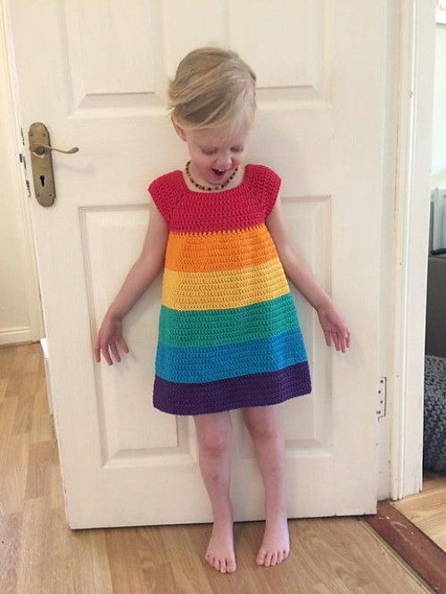 Photo of Regenbogen-Kleid – Free Pattern   Schöne Fähigkeiten – Häkeln Knitting Quilte…