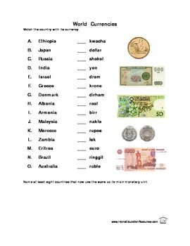 world currencies worksheets worksheet worksheets word puzzles currency converter. Black Bedroom Furniture Sets. Home Design Ideas