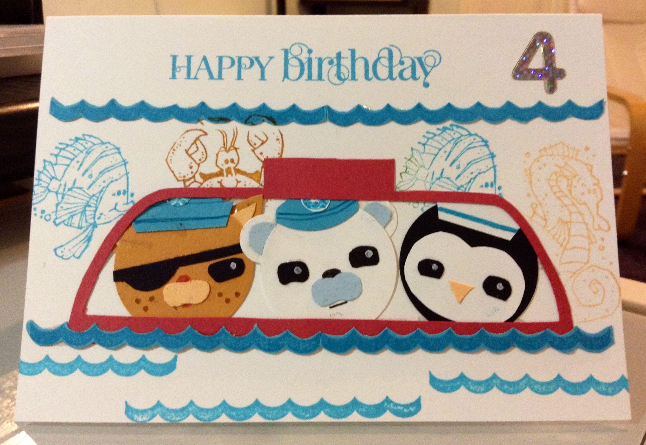 Octonauts Birthday Card Ri 14 Birthday Cards Kids Cards Octonauts Birthday