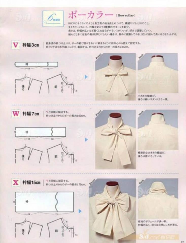 cuellos14   sewing   Pinterest   Kragen und Nähen