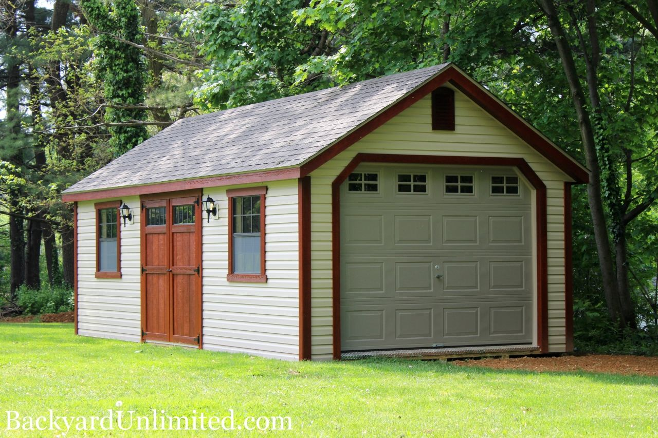 12x20 New England Shed With Painted Board Batten Siding Heritage Garage Door Double Transom Entry Door Cupola And Gable Vents Shed Garden Shed Barns Sheds