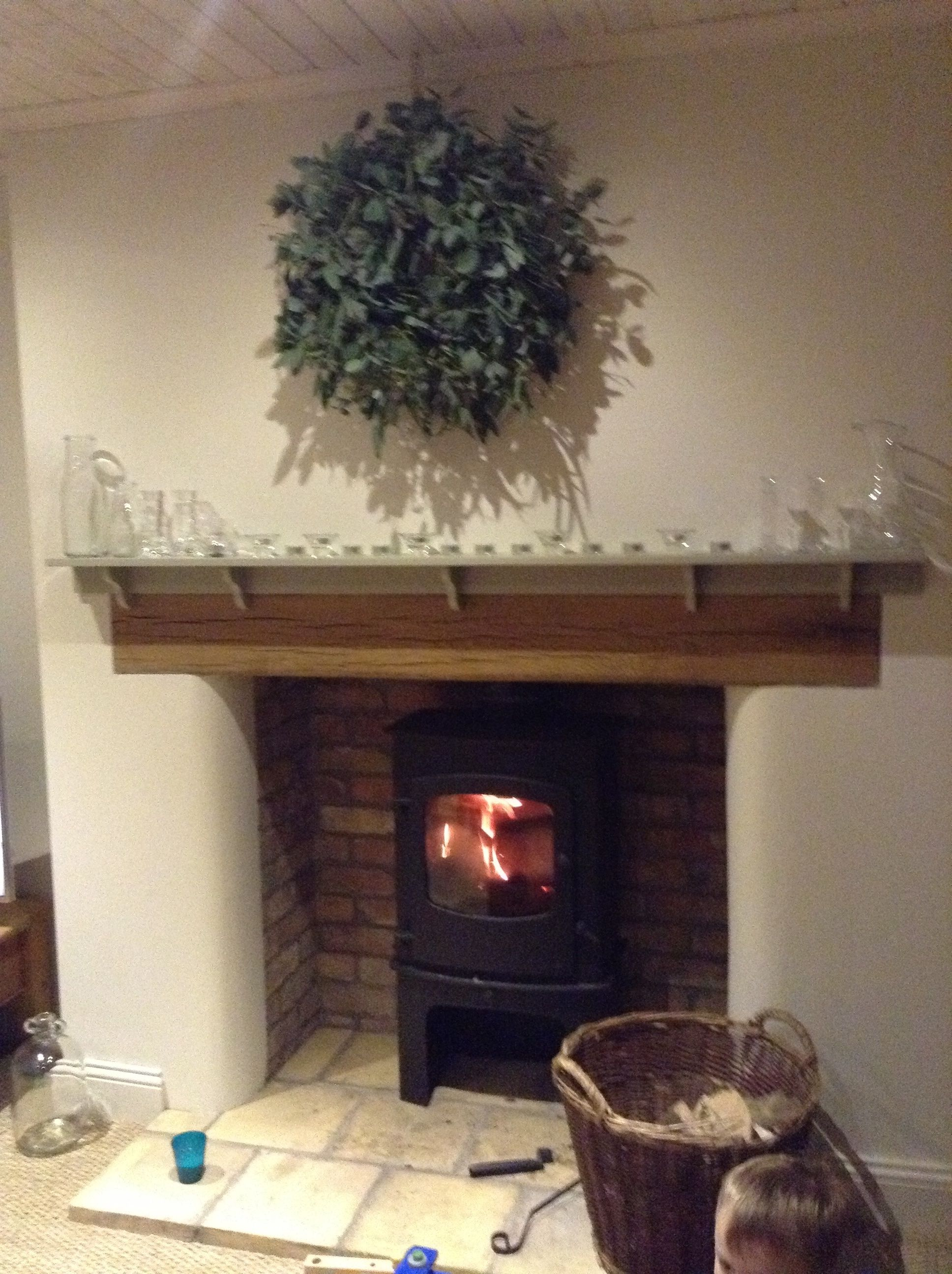 Our Inglenook Fireplace Reclaimed Belfast Brick And Whitewashed