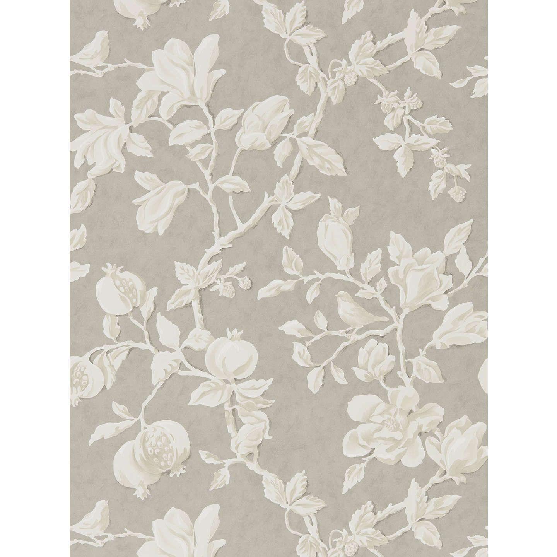 Sanderson Magnolia and Pomegranate Wallpaper, Silver