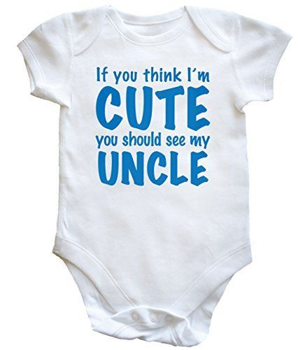 24aa43d83 HippoWarehouse If you think I'm cute you should see my uncle baby vest boys