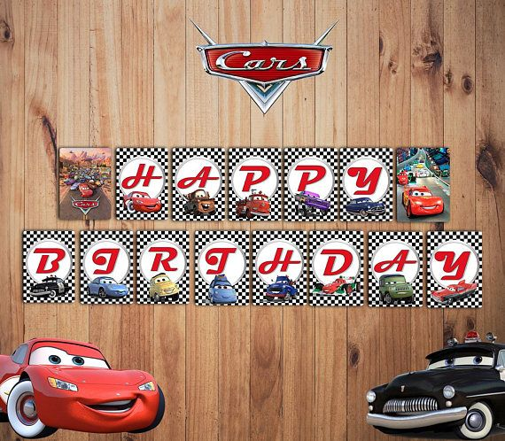 Disney Cars Party Banner Cars Birthday Banner Cars