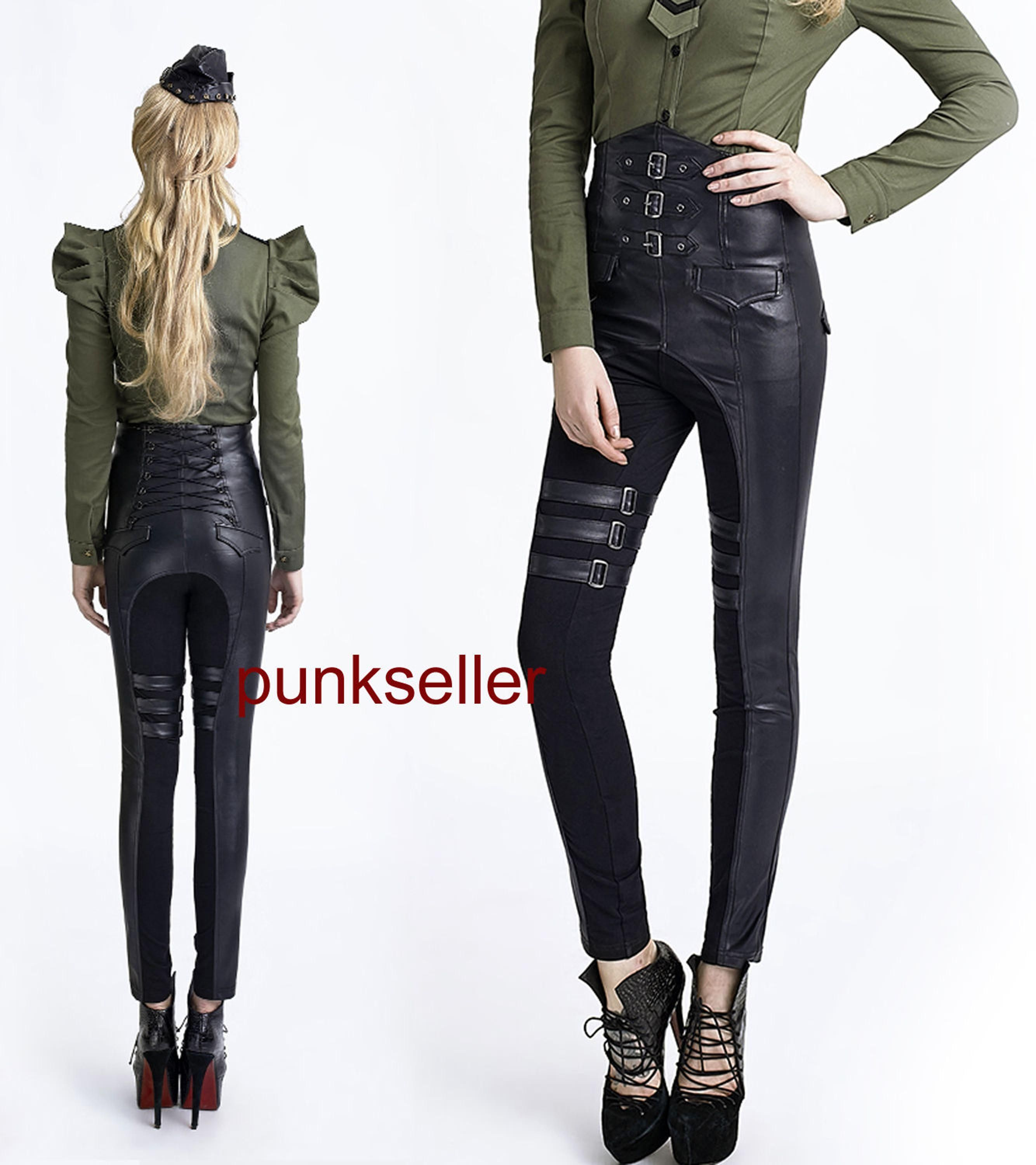 ac5901e85b Punk Gothic Rock high waist pants Gothic sexy women Unifom steampunk  trousers-in Pants & Capris from Women's Clothing & Accessories on  Aliexpress.com ...